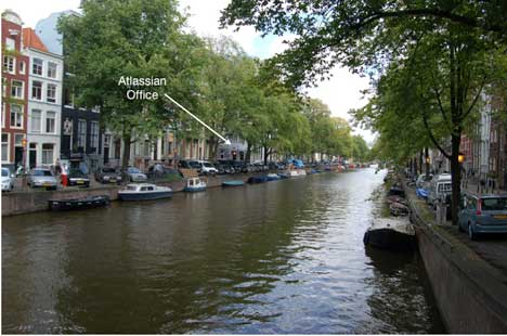 Just down from Leliegracht, the new Atlassian location.